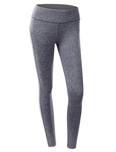 Doublju Women Trendy Jersey Comfy Long Pants NAVY,L