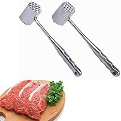 Double Sided Aluminum Tender Meat Hammer Pork Beef Chicken Mallet