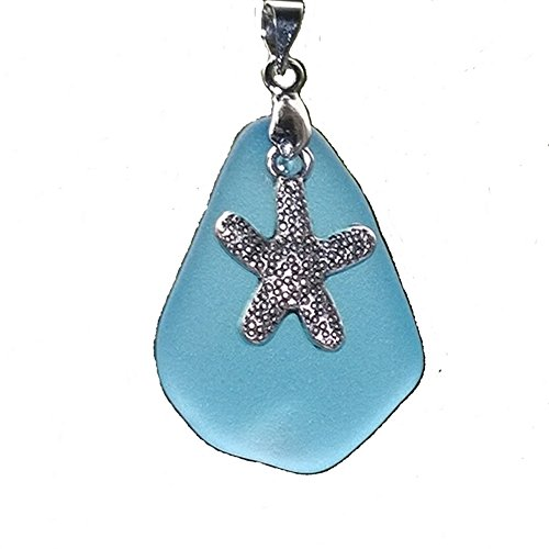 2 Pcs Ocean Sea Life Charms Pendant &1 Inches Beach Sea Glass Bead ~Turtle Starfish Shark Seahorse Sea Fish Octopus Lobster Dolphin Whale Tail Crab Conch ~ JCT (Starfish 1) - JCT ECO