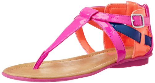 Kenneth Cole Reaction Keep Heart Gladiator Sandal (Little Kid/Big Kid),Pink/Peach,3 M Us Little Kid front-947134