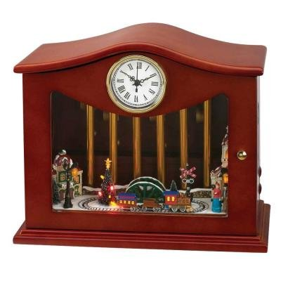 Mr. Christmas Animated Musical Chimes Train Table Top Clock #77647