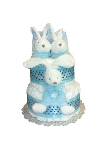 La Collection Bebe Baby Shower Diaper Cake Gift Set (Blue)