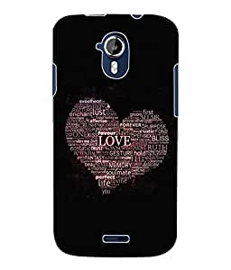 Fuson 3D Printed Love Heart Designer Back Case Cover for Micromax Canvas Magnus A117 - D623