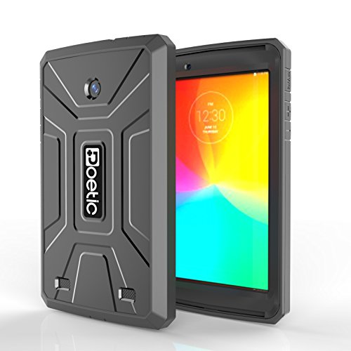 LG G Pad 7.0 Case - Poetic LG G Pad 7.0 Case [Revolution Series] - [Heavy Duty] [Dual Layer] [Screen Shield] Protective Hybrid Case with Built-In Screen Protector for LG G Pad 7.0 Black (3 Year Manufacturer Warranty From Poetic) (Lg G Pad Protective Case compare prices)