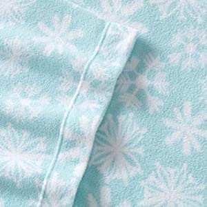 Snowflake Fleece Sheet Set - Queen