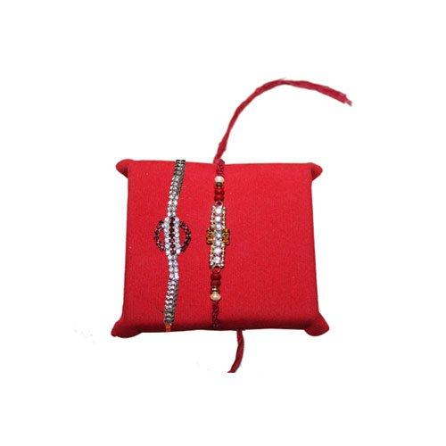 handicrunch-2-white-pearl-rakhi-set-with-haldiram-soan-papdi-rakhi-combo-set