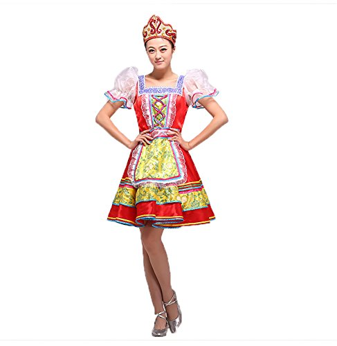 Treasure-box Elegant Womens Russian Folk Dance Palace Maid Costume