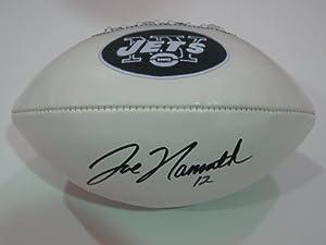 Joe Namath New York Jets Signed Autographed Logo Nfl Football Authentic Certified Coa