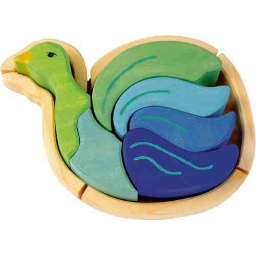 Picture of Kathe Kruse Wooden Puzzle Bird (B0016KHCP4) (Pegged Puzzles)