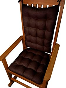 ... Rocking Chair Pads: Seat and Back - Reversible, Tufted, with Ties