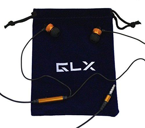Glx Tm Shredphones Superior Quality Stereo Earphones With Microphone (Orange)