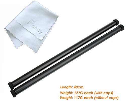 Fotasy 40cm 16 Inch Long 15mm Rods Support Rail for Rig Mattebox Follow Focus  (10mm x 1 Thread)