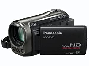 Panasonic SD60 Full HD Camcorder With SD Card Recording, X35 Intelligent Zoom, X25 Optical Zoom, Wide Angle Lens, iA + Face Recognition - Black