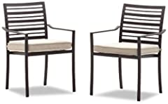 Strathwood Rhodes Dining Arm Chair, Set of 2