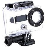 TARION Boîtier de remplacement/Etui de protection/Housse de plongée/Coque caméscope/Caisson sous-marin étanche imperméable pour GoPro Hero 1 Hero 2 HD Caméra (Transparent)