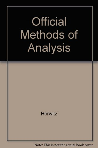 Official Methods of Analysis