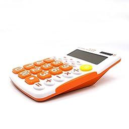 Aisa 12 Digit Large Display Standard Desktop Calculator Color Orange