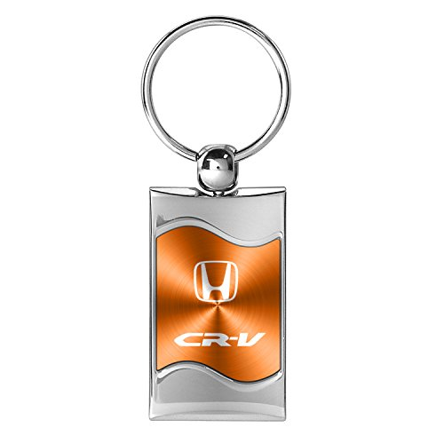 honda-crv-orange-spun-brushed-metal-key-chain