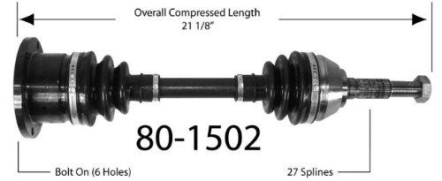 Empi 80-1502 CV Joint Half-Shaft Assembly
