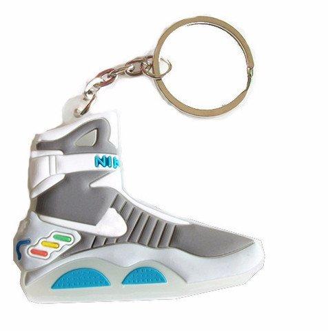 BazarAZ 720 - [BACK TO THE FUTURE] Portachiavi a Scarpa Nike Air Mag di Ritorno al Futuro (Martin McFly) - Morbido Silicone - Elevata Qualità - Dettagli Perfetti - Con Anello e Catenina - Modello 2D