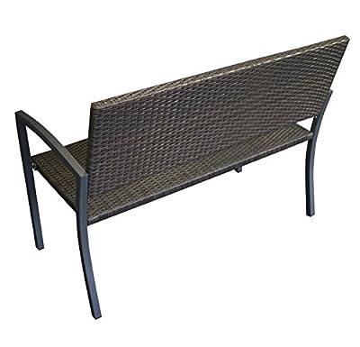 Geflechtbank TOLEDO 2-sitzer, Stahl + Polyrattan Geflecht moccafarben von gartenmoebel-einkauf bei Gartenmöbel von Du und Dein Garten