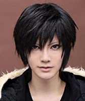 Amybria Men's Beautiful Male Black Short Straight Hair Wig/Wigs Cosplay Party from Amybria
