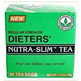 TWO BOXES of 30 tea bags Regular Strength Dieters' Nutra-Slim Tea Triple Leaves Brand