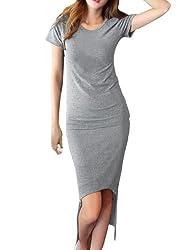 Ladies Round Neck Pullover Top w Elastic Waist Knit Skirt