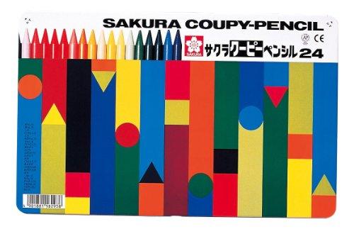 サクラクレパス クーピーペンシル24色(缶入) FY24