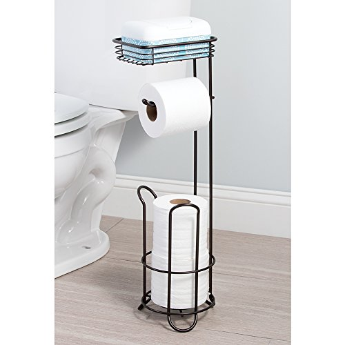 Toilet Tissue Paper Roll Holder Stand Rack Storage Shelf
