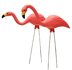 Southern Patio HDR-499478 Pink Flamingo Plastic Lawn Ornament, 2-Pack (Discontinued by Manufacturer)