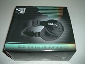 VAAS DJ Noise Reducing Stereo Headphones V1-DJ Black