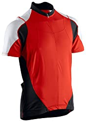 Astek Mens Red Black White Cycling Fitness Training Biking Jersey Top by Astek