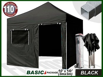 eurmax Basic 10 x 10 Pop up Canopy Instant Outdoor Party Tent Shade Gazebo With 4 Removable Zipper End Sidewalls Bonus Wheeled Stora... at Sears.com