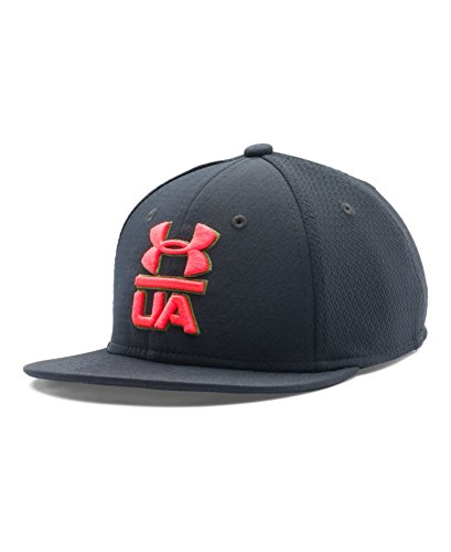 Under Armour Boys Verb Cap, Black/Bolt Orange/Bolt Orange, Small/Medium