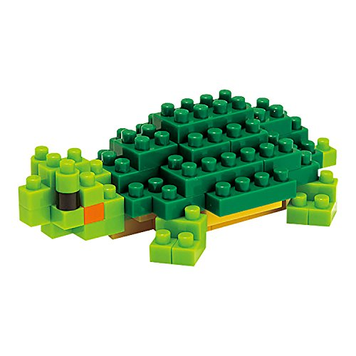 Kawada Nanoblock NBC_033 Turtle (Red-eared Slider) Building Kit - 1