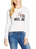 Love Moschino Camiseta Manga Larga (Blanco)