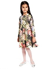 2 Piece Autograph Floral Knitted Dress & Tights Outfit