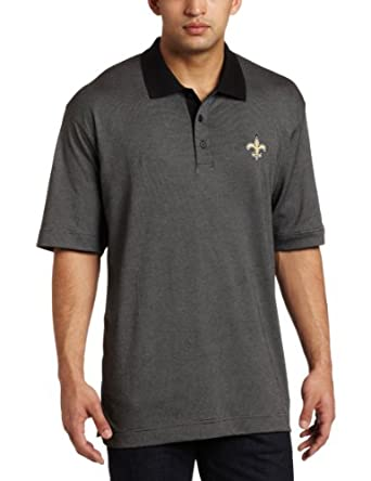 NFL New Orleans Saints Mens DryTec Resolute Polo Knit Short Sleeve Top by Cutter & Buck