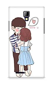 Amez designer printed 3d premium high quality back case cover for Micromax Canvas Express A99 (Kissing Couple)