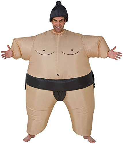 Sumo Inflatable Adult Costume Funny Wrestler Wrestling Theme Party Halloween