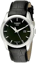 Tissot Men's T0354101605100 Couturier Black Dial Strap Watch