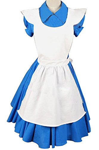 Firecos Alice In Wonderland Movie Alice Blue Dress Halloween Costume