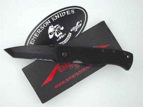 Emerson Knives Usa Cqc-7B Bts No-Wave Version Serrated Tanto Blade