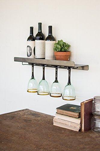Iron wine glass wall shelf home garden decor shelves ledges for Wall shelves and ledges