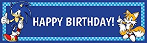 Sonic the Hedgehog Party Supplies - Vinyl Birthday Banner from Birth3000