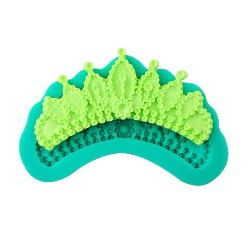 Allforhome Crown Shape Soft Silicone Cake Mold resistant enhanced Lace Pattern Fondant Gum Paste Swags Drapes Silicone Mold Mould Food Grade non stick Sugar paste Chocolate Fondant Butter Resin Cabochon Polymer Clay fimo Moulds