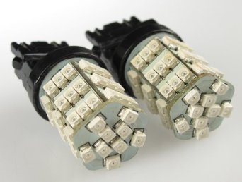 Cutequeen Trading Led White 3528 54Smd 54-Smd 3157 3457 3057 4157 Led Turn Signal Lights With Load Resistors