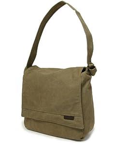 Members Small Canvas Messenger Bag in Khaki (CV-0004)