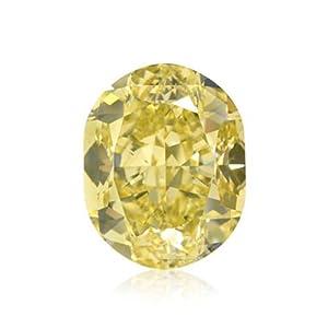 Yellow Loose Diamond Cushion Cut Natural Fancy Color GIA Cert 5.16 Carat VVS2